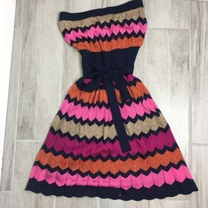 Chinese Laundry strapless pleated dress Size S